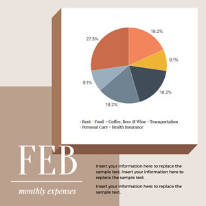 Monthly Expenses Pie Chart Design