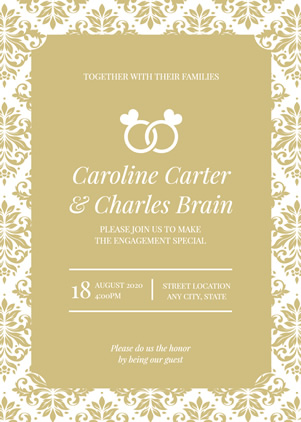 Ring Wedding Invitation Design