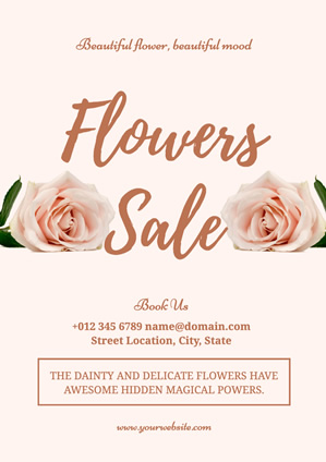 Light Pink Rose Flower Poster Poster Design