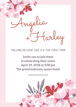 Flower Wedding Invitation Design