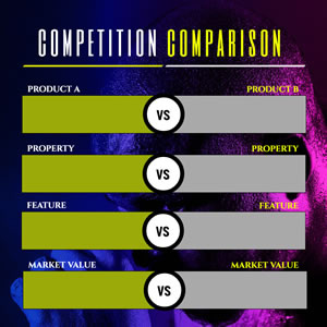Competition Comparison Table Chart Design