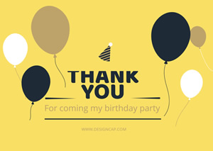 Simple Birthday Thank You Card Design
