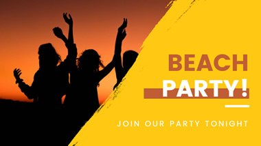 Beach Party YouTube Channel Art Design