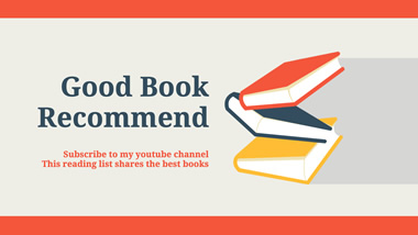 Book Recommend YouTube Channel Art Design