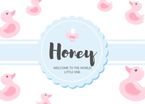 Birth Announcement Card Design