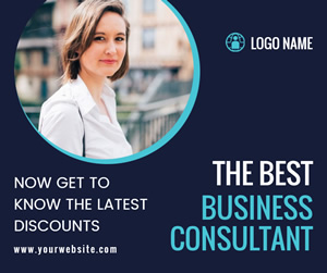 Business Consultant Facebook Post Design