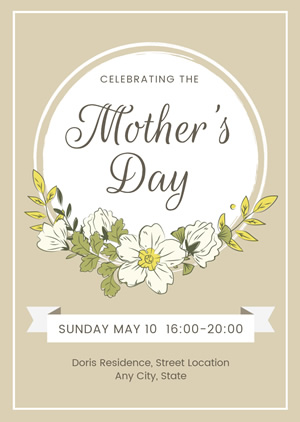 Mothers Day Celebration Invitation Design