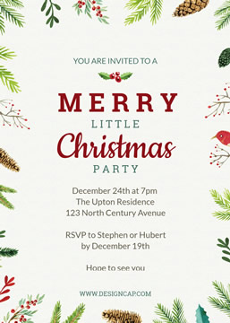 Party Christmas Invitation Invitation Design