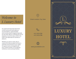 Luxury Hotel Brochure Design