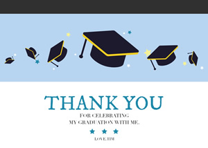Graduation Thank You Card Design