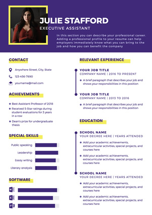 Executive Assistant Resume Design
