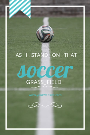 Soccer Pinterest Graphic Design