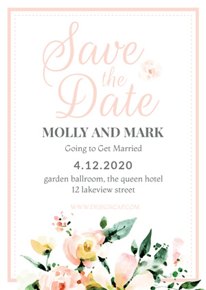 Save the Date Invitation Design