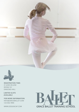 Dance School Poster Design