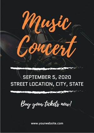 Black Music Concert Poster Design
