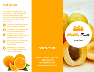 Healthy Orange Brochure Design