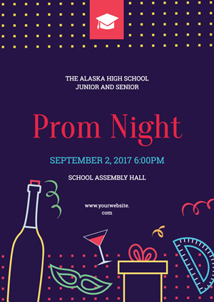 Prom Night Poster Design