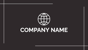 Company Name in Black Business Card Design