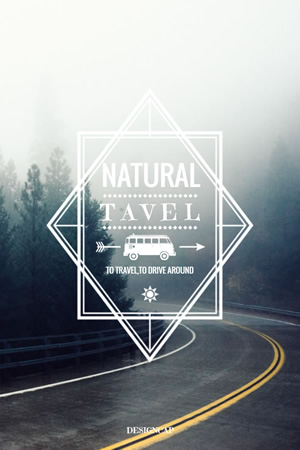 Natural Travel Pinterest Graphic Design