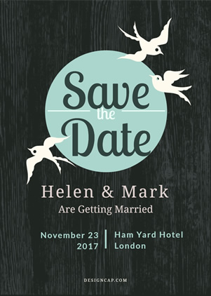 Elegant Save the Date Invitation Design
