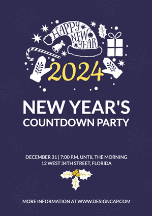 Poster New Year Party design