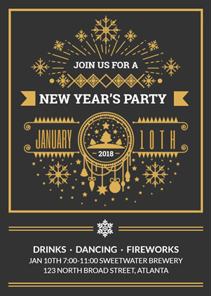 New Year Invitation design
