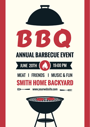 Simple Grill Bbq Poster design