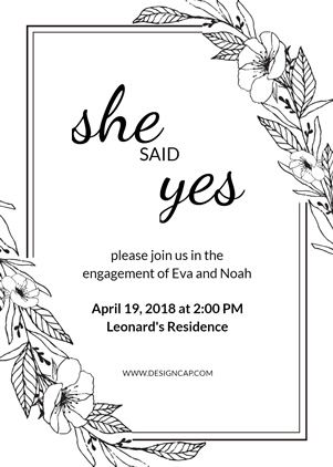 Simple Engagement Invitation Design