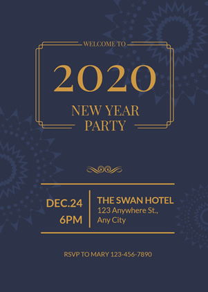 New Year Party Invitation Design