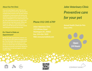 Pet Care Brochure Design