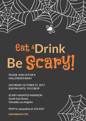 Creative Halloween Party Invitation Design