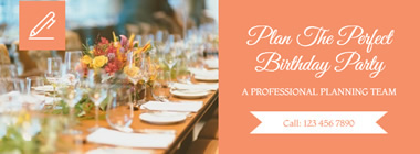 Event Planning Facebook Cover design