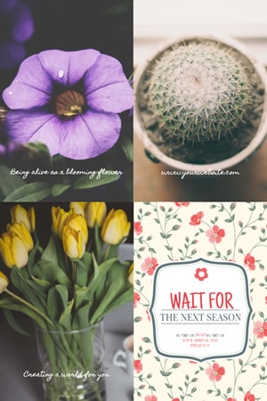 Flower & Life Pinterest Graphic Design