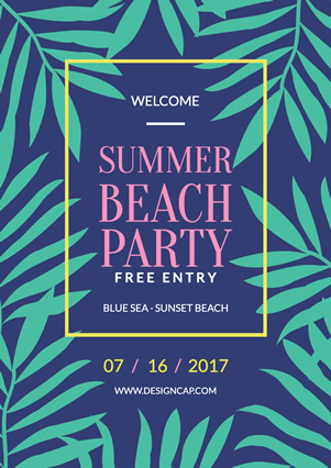 Party Summer Beach Flyer Design
