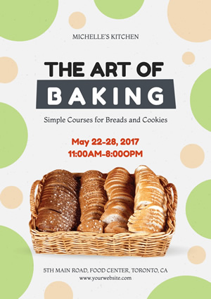 Education Class Baking Poster Design