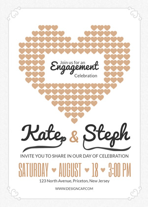 Wedding Engagement Party Invitation Design