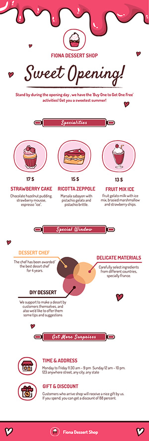 Dessert Shop Infographic Design