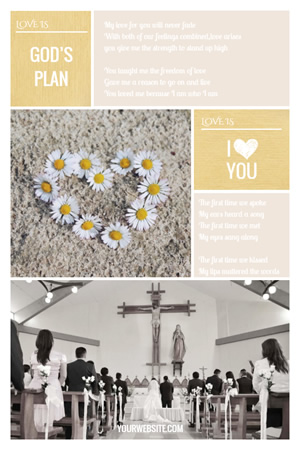 Love Plan Pinterest Graphic Design