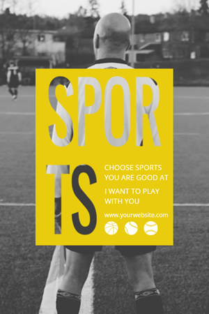 Sports Promo Pinterest Graphic Design