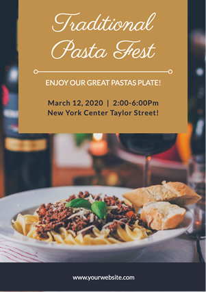 Photo Traditional Pasta Fest Flyer Flyer Design