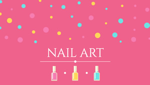 Nail Beauty Card Business Card Design