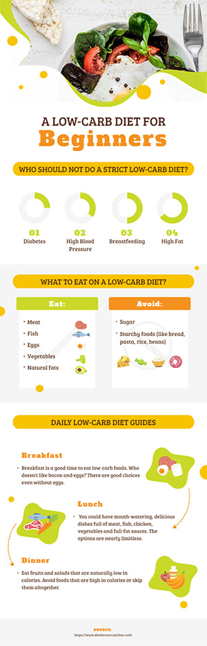 Low Carb Diet Infographic Design