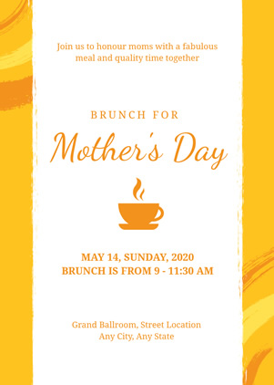 Mothers Day Brunch Invitation Design