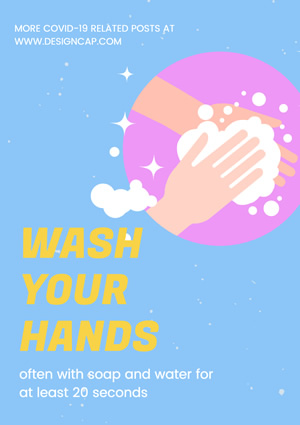 Wash Hands Poster Design