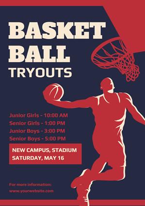free basketball poster designs  designcap poster maker