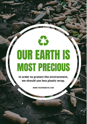 Trash Recycling Environment Protection Poster Design