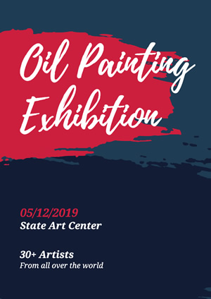 Artistic Oil Painting Exhibition Poster Design