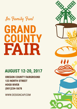 Festival County Fair Poster Design