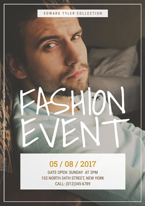 Fashion Event Poster Design