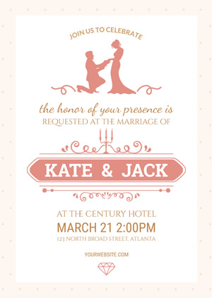 Sweet Wedding Invitation Design